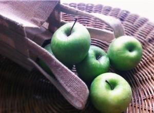 Golden Delicious apples.
